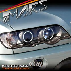 CCFL Angel-Eyes DRL Projector Head Lights for BMW X5 E53 00-03 Pre LCI Headlight