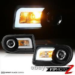 DIAMoND BLACK LED Halo Projector DRL Headlight 2005-2010 Chrysler 300c SRT8