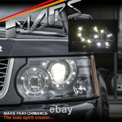 DRL head lights with Xenon HID for Land Rover Range Rover Sport L320 2010-2013