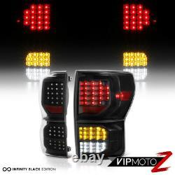 Direct Fit For 07-13 Toyota Tundra FULL LED Black Tail Light Brake Signal Lamp