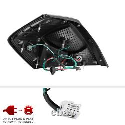 Fit 07-12 Nissan Altima Sedan DARKEST SMOKE TINT LED Tail Light Replacement