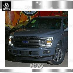 Fit 18-20 Ford F150 Nova LED Projector Headlights Alpha Black with Converter