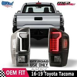 Fits 2016-2019 Toyota Tacoma White DRL LED Tube Tail Brake Lights Off-Road Lamps