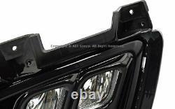 Fog Light LED 4 Eyes Black For 16-18 Kia Sorento w Harness Direct Replacement