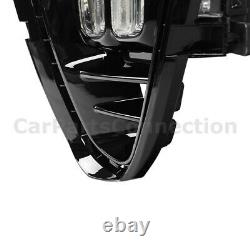 Fog Lights LED with Switch Wire Harness Black 4 Eyes DRL For Kia Sorento 19+