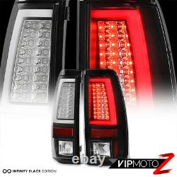For 03-06 Chevy Silverado 1500 2500 3500HD OLED NEON TUBE Black LED Tail Light