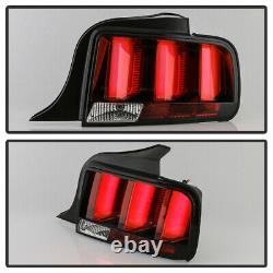 For 05-09 Ford Mustang Sequential Red Tail Light 3D Neon Tube LED Brake Lamp