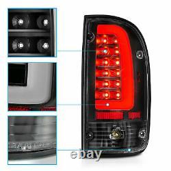For 05-15 Toyota Tacoma Tail Lights Brake Lamps Black/LED DRL Tube Right+Left