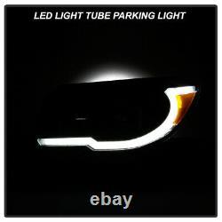 For 06-09 Toyota 4Runner BLACK LED Neon Tube DRL Projector Headlight L+R Lamp