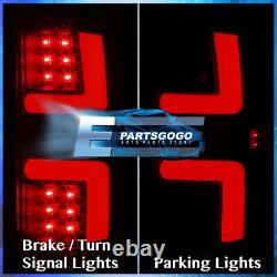 For 07-08 Dodge Ram 1500 2500 3500 LED DRL Red Tube Brake Tail Lights Lamp Black