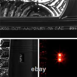 For 07-10 JEEP GRAND CHEROKEE BRIGHTEST BLACK LED SMD REAR BRAKE TAIL LIGHT WK