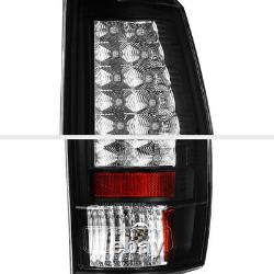 For 07-13 Chevy Avalanche LED Black Tail Light Parking Rear Brake Lamp Pair L+R