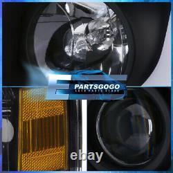 For 07-13 Chevy Silverado LED DRL Black Headlights + Black Housing Tail Lights