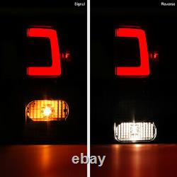 For 07-13 Toyota Tundra NEWEST NEON TUBE Black LED Rear Brake Tail Lights Lamp