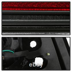 For 08-11 Subaru Impreza/WRX 4D Sedan Neon Tube LED Tail Light Brake Lamp BLACK