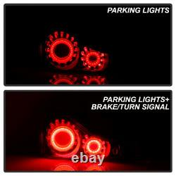 For 08-15 Infiniti G37 / Q60 Coupe 3D LED Bar Tube Tail Light Brake Lamp BLACK