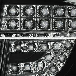 For 09-10 Base LE XLE XRS S Corolla Black LED Rear Brake Tail Lights Trunk 4PC