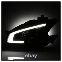 For 09-14 Nissan Maxima BLACK LED Plasma Tube DRL Projector Headlight L+R Lamp