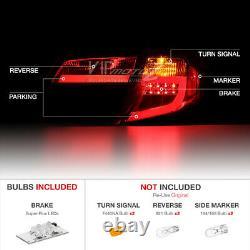 For 12-14 Toyota Camry SE LE Hybrid Black NEON TUBE LED Rear Brake Tail Light