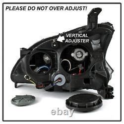 For 13-15 Nissan Sentra Sinister Black Smoke C-Shape LED U-Bar DRL Headlight
