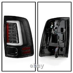 For 13-18 Dodge RAM Black TRON STYLE LED Parking Tube Light Tail Brake Lamp