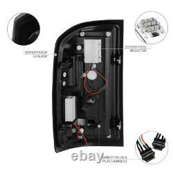For 14-18 Chevy Silverado SINISTER BLACK LED Neon Tube Smoke Tail Light Lamp
