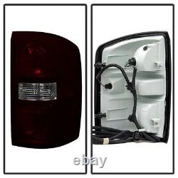 For 14-18 GMC Sierra 1500 2500 3500 OE Style Smoke Tinted Tail Lights Lamp Pair