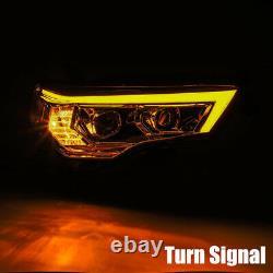 For 14-20 Toyota 4Runner PRO-Series Midnight Black Housing Projector Headlights