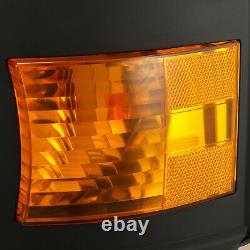 For 15-19 Silverado 2500/3500 DRL/Activation Light Black Projector Headlights
