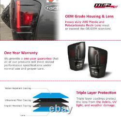 For 16-21 Toyota Tacoma Black/Smoke DRL LED Tube Tail Lights Rear Brake Lamps