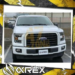 For 17-20 Ford F150 Raptor AlphaRex Pro Series Projector Headlights with DRL Black