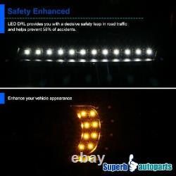 For 2001-2011 Ford Ranger Black LED DRL Strip Projector Headlights Signal lights