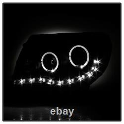 For 2005-2011 Toyota Tacoma DRL LED Halo Projector Headlights Headlamps Lights