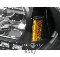 For 2006-2009 Charger Drl Led Black Crystal Head Lights+chrome Bumper Fog Lamp