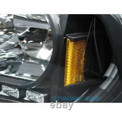 For 2006-2010 Charger Drl Led Crystal 2in1 Head Light +corner Signal Set Black