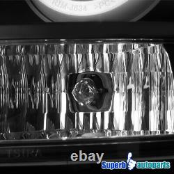 For 2006-2013 Chevy Impala Black Halo LED DRL Tail Lights Rear Brake Lamps