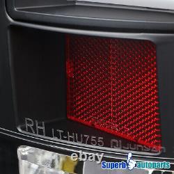 For 2007-2008 Dodge Ram 1500 2500 3500 LED DRL Strip Tail Lights Brake Black