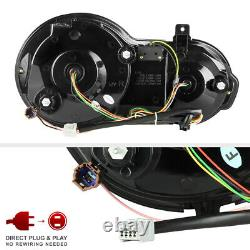 For 2009-2021 Nissan GTR Smoke NEWEST Dual LED Ring Tail Light SET Replacement
