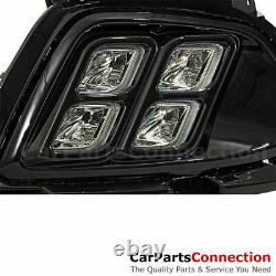 For Kia Sorento 16-18 Fog Light Foglamps LED DRL 4 Four Eyes Black w Connector