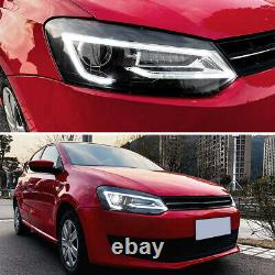 For UK VW Polo MK5 6R 6C 2009-up LED DRL Sequential Headlight Front Tail lights