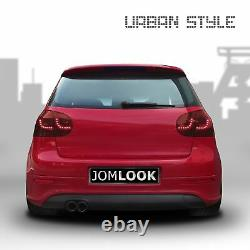 For VW GOLF 5 V MK5 Soda Original Jom LED Rear Lights Dark Red Smoke Set