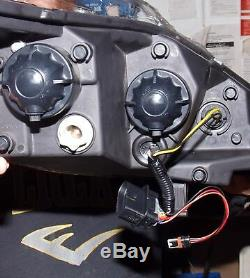 Ford Fiesta Mk7 08-12 Black Drl Led R8 Design Projector Front Headlights