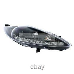Ford Fiesta Mk7 2008-2013 Black DRL Devil Eye Head Light Lamp Pair Left & Right