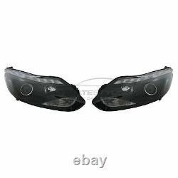 Ford Focus Mk3 2011-2015 Black DRL Devil Eye Head Light Lamp Pair Left & Right