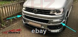 Gloss Black New Bar Led Drl Lights Day Time For Vw Transporter T5 T5.1 2010 15
