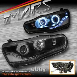 JDM Varis CCFL HALO DRL LED Head Lights for MITSUBISHI LANCER CJ CF 07-18 EVO X