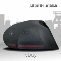 JOM URBAN LED Taillights Rear Lights SET in Black Smoke for VW Golf 5 V MK5 New