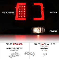 LATEST DESIGN 3D OLED STRIP Black LED Tail Lights FOR 2004-2015 Nissan Titan