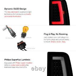 LATEST DESIGN For 99-06 GMC Sierra NEON TUBE Black Smoke LED Tail Light Lamp
