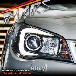 LED 3D Stripe DRL Head Lights for Subaru Impreza WRX STI GD 05-07 Xenon type